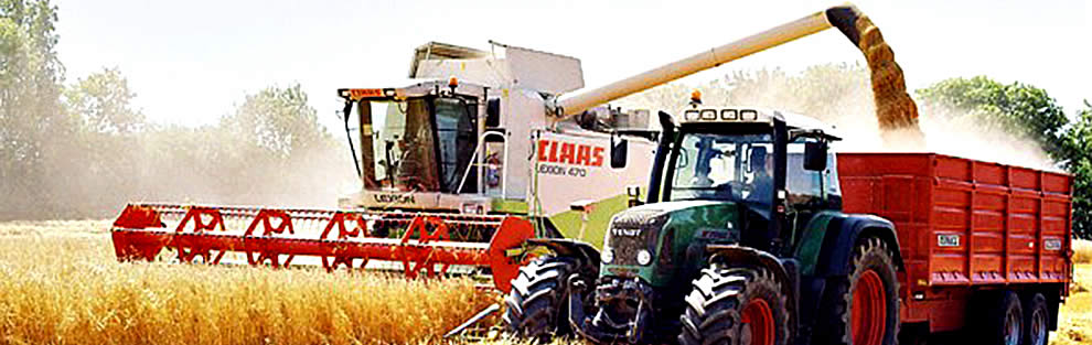 One of our harvesters being operated by a member of the agricultural contracting team.